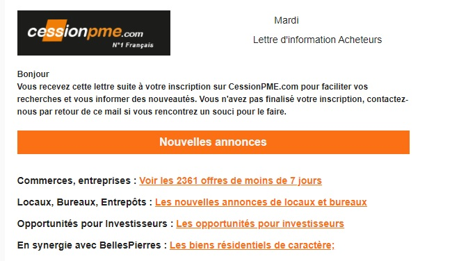 Newsletter  CessionPME